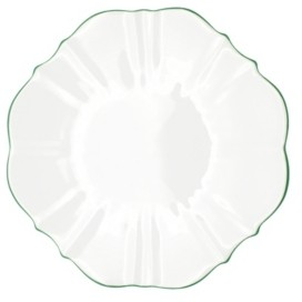 """Twig New York Amelie Forest Green Rim 13"""" Charger Plate"""