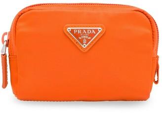 Prada Logo Plaque Cosmetics Bag