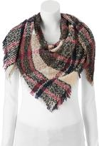 Candies Candie's® Boucle Plaid Frayed Triangle Scarf