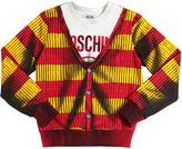 Moschino Shadow Cardigan Print Cotton Sweatshirt