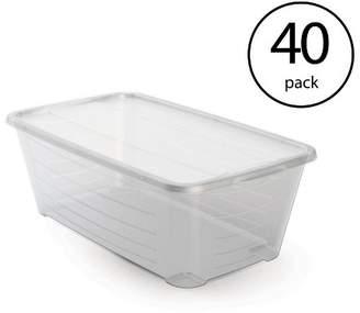story. Life 6 Qt Rectangular Clear Plastic Protective Storage Shoe Box (40 Pack)