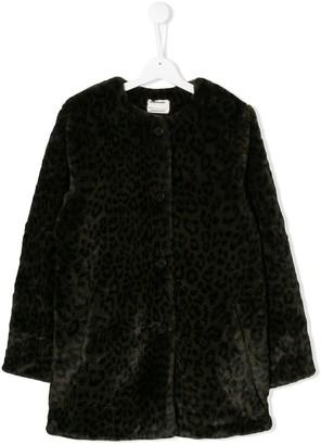Zadig & Voltaire Kids TEEN leopard-print coat