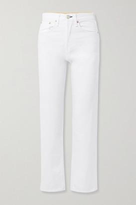 Rag & Bone Maya Cropped High-rise Straight-leg Jeans - White