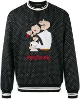 Dolce & Gabbana polka dot printed sweater - men - Cotton/Polyamide/Polyester/Wool - 48