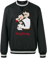 Dolce & Gabbana polka dot printed sweater - men - Cotton/Polyamide/Polyester/Wool - 50