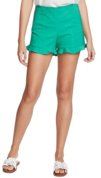 1 STATE Ruffle-Hem Welt-Pocket Shorts