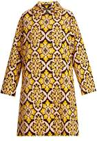 LA DOUBLEJ EDITIONS Tile-print cotton-velvet coat