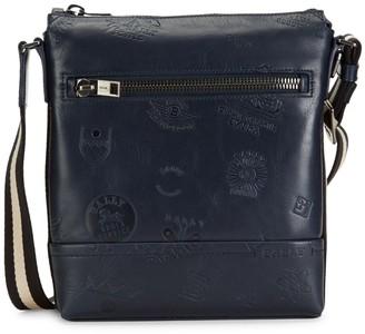 Bally Trezzini Embossed Leather Crossbody Bag