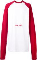 Hood by Air oversized printed sweatshirt - men - Cotton - XS