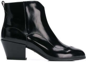 Hogan Zip Up Ankle Boots