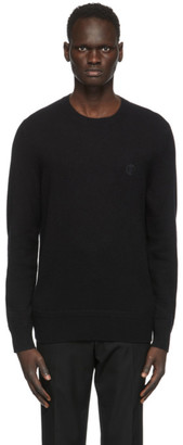 Burberry Black Cashmere Monogram Motif Sweater