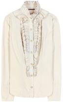 Balmain Cotton Ruffled Blouse