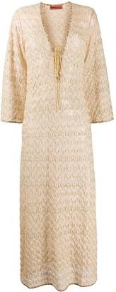Missoni Mare Contrast Trimmed Crochet Dress