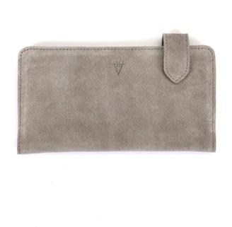 Hiva Atelier Fluctus Suede Wallet Light Grey