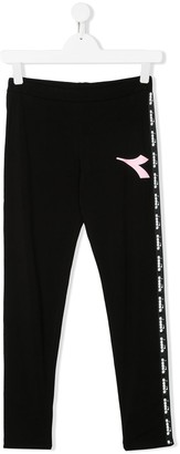 Diadora Junior TEEN logo print leggings