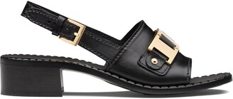 Prada Chain Detail Sandals