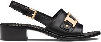 Prada chain detail sandals