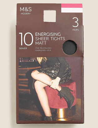 Marks and Spencer 3 Pack 10 Denier Energising Sheer Tights
