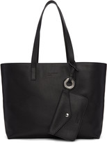 Jil Sander Navy Black Leather Tote Bag