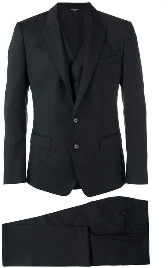 Dolce & Gabbana three-piece checked suit