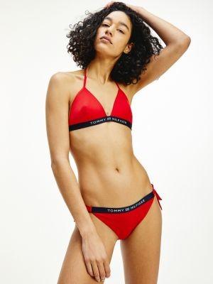 Tommy Hilfiger Halter-Neck Fixed Triangle Bikini Top