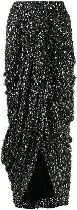 Isabel Marant sequinned ruched midi skirt