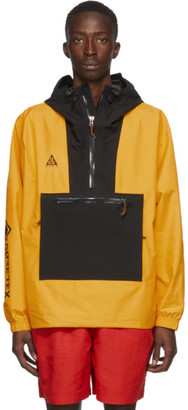 Nike ACG Black and Yellow Gore-Tex Paclite Jacket