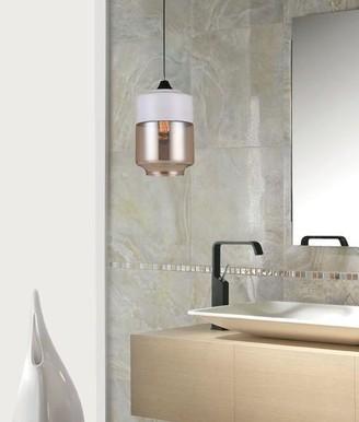 Rovan Casa White And Amber Jar Pendant