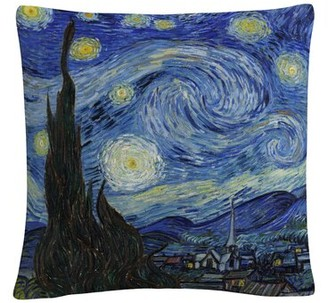 Winston Porter Indie Starry Night Floral Throw Pillow