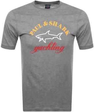 Paul & Shark Paul And Shark Logo T Shirt Grey