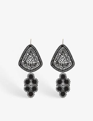 Stella McCartney Woven crochet earrings
