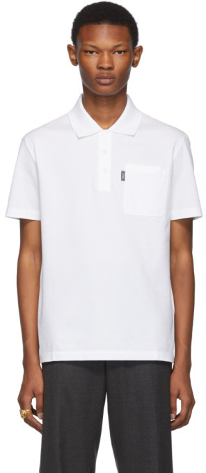 Versace White Chest Pocket Polo