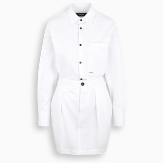 DSQUARED2 White shirt style dress