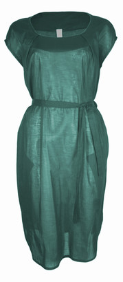 Format LOCK Green Plain Dress - S - Green