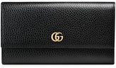 Gucci Leather continental wallet - women - Leather - One Size