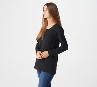 Denim & Co. Essentials Perfect Jersey Long-Sleeve Tunic w/ Cuff