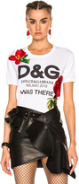 Dolce & Gabbana Embroidered Graphic Tee