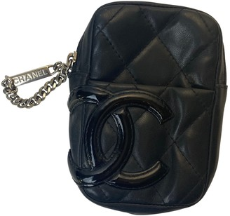 Chanel Cambon Black Leather Purses, wallets & cases