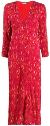 Rixo Katie Klimt Eye Wave-print dress