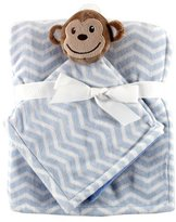 Hudson Baby Plush Security Blanket Set, Monkey by