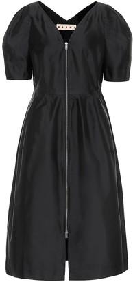 Marni Silk-blend midi dress