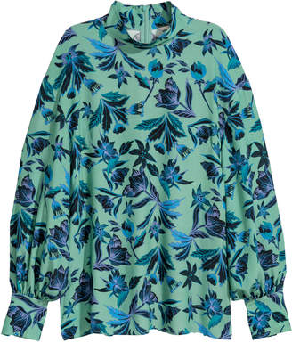 H&M Blouse with a stand-up collar