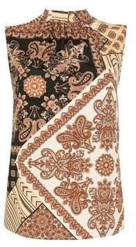 Dorothy Perkins Womens Multi Colour Paisley Print Sleeveless Top