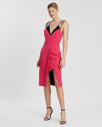 Nicola Finetti Double Strap V-Neck Dress