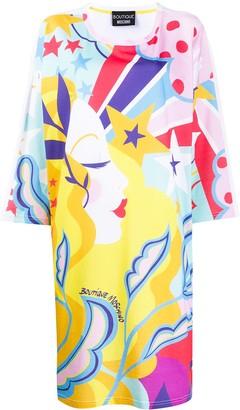 Moschino abstract print T-shirt dress