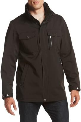 Izod Men's Fleece Lined Water Resistant Shirt Jacket