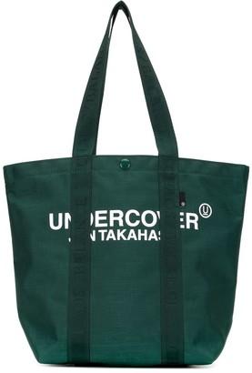 Undercover Logo Print Tote Bag