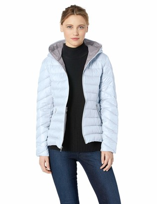 French Connection Women's Lieghtweight Hooded Packable Down