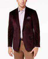 Tallia Men's Slim-Fit Burgundy Neat Shawl-Collar Dinner Jacket
