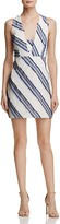 Milly Diagonal Stripe Cross Back Mini Dress